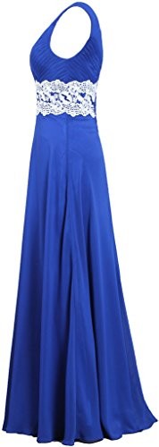 Tank Dresses Women's Prom Long ANTS Blue Chiffon Gown Lace Navy Bridesmaid t0wtqZd