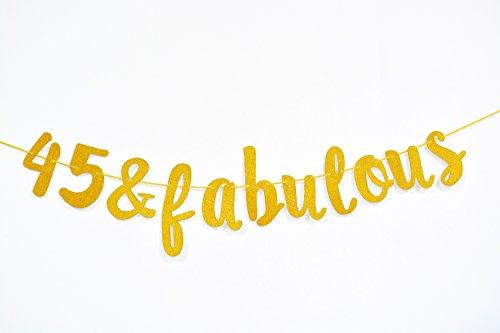 Firefairy 45 & Fabulous Cursive Banner- Happy 45th