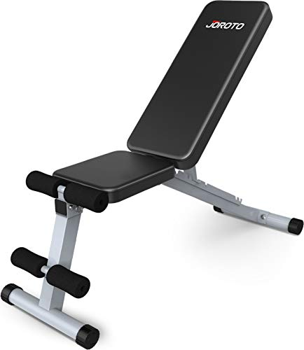 JOROTO Adjustable Weight Bench Multi-purpose Foldable Incline Decline workout exercise Bench,650 LBS Capacity 7in 1…