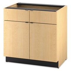 HON HPBC2D2D36D Hospitality Double Base Cabinet, Two Doors/Drawers, 36 x 24 x 36, Natural Maple