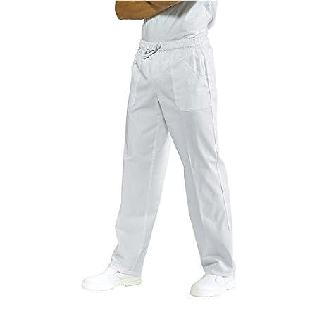 ISACCO - Pantalone Con Elastico Bianco Poliestere/Cotone - M