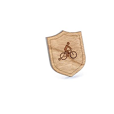 Top Training Wheels Lapel Pin, Wooden Pin And Tie Tack | Rustic And Minimalistic Groomsmen Gifts And Wedding Accessories for sale