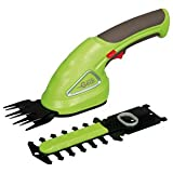Garden Gear Garden Hedge Trimming Cordless Shears Lightweight Handheld 3.6V with 80mm Cutting Blade (Trimming Shears)