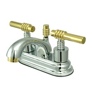Nuvo Elements of Design Milano Chrome and Polished Brass Centerset Bathroom Faucet