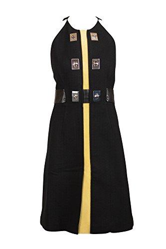 Proenza Schouler Womens Black Toggle Suede Trim Sleeveless Dress 4