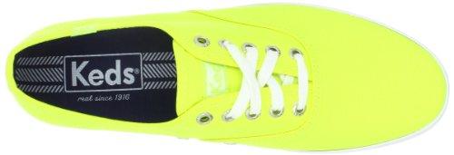 Keds Hombres Campeón Neon Canvas Neon Yellow Canvas