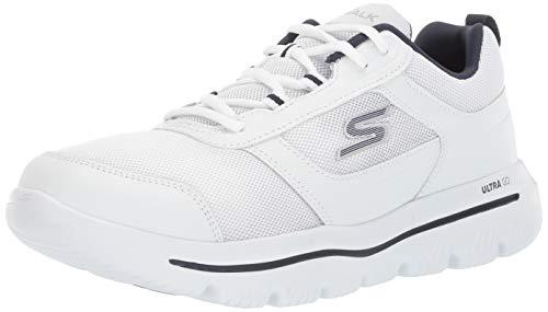 Skechers Men's GO Walk Evolution Ultra-Enhance Sneaker, White/Navy, 12 M US (White Skechers Shoes For Men)
