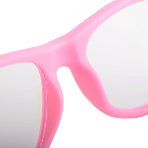 Gudzws Kids Anti Blue Light Glasses Rectangle Plastic Frame Protect Eyesight from Digital Display Computer TV Boys Girls Child Unisex Pink (Suitable for 5-12 Years Old) by Gudzws (Image #9)