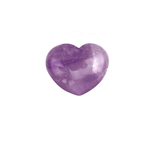 Natural Amethyst Crystal Puff Heart Worry Healing Stone W Fe