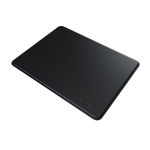 Satechi Eco-Leather Mouse Pad with Non-Slip Rubber Base - Compatible with Computers, Laptops and Desktops (Black)
