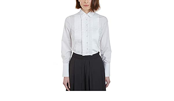 Hawes /& Curtis Womens Fashion Blue Dobby Spot Stretch Cotton Fitted Summer Shirt