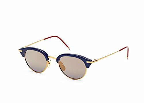 Sunglasses THOM BROWNE TB 706 B-T-NVY-GLD Navy-Shiny 18K Gold w/ Dark BlueGold - Thom Browne Sunglasses