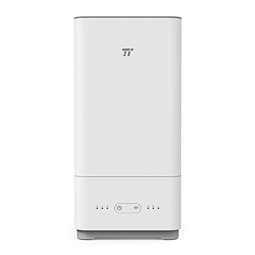 TaoTronics TT-AH014 Top Fill Humidifiers for Bedroom, Cool Mist, Ultrasonic Essential Oil Diffuser, 40 Hours, Easy to Clean, Low Water Protection(5L/1.32 Gallon, - Top Fill