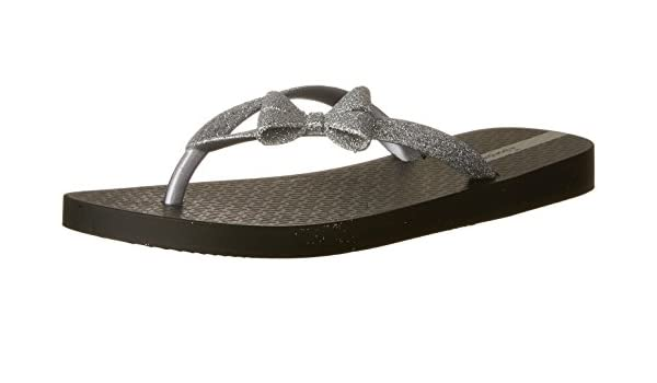 dd964ffeff65 Ipanema Sparkle Bow II Girls Flip Flops   Sandals-Black-13K 1