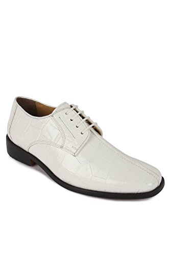 Liberty Fortune Men's Leather Dress Shoes Size 11 UK/Length 26.1Cm White