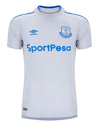 Umbro Mens Everton F.C. Short Sleeve Away Jersey, Grey Size - Away Umbro Shirt Football