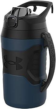Under Armour Playmaker Jarro de garrafa de água de 1,8 l, alça de gancho de cerca, tampa protetora com botão d