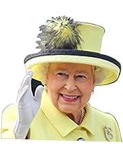 CHENSTAR Drottning Elizabeth fönsterdekaler för fordon, fönsterklistermärke påven rolig bilfönster fastklistrande bilklistermärke fönster lätt borttagning lämnar inga rester