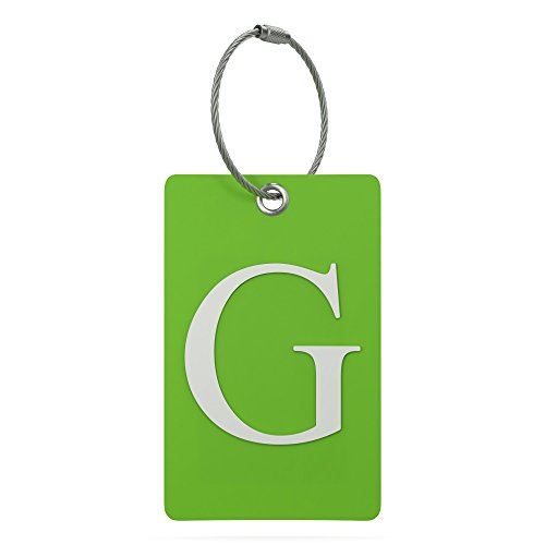 Luggage Tag Initial - Fully Bendable Tag w/ Stainless Steel Loop (Letter G)