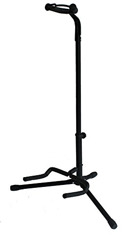 Top Stage Black Tripod Guitar Stand, with Secure (Black Acoustic Stand)