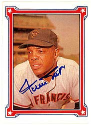 Willie Mays Signed 1984 Trading Card #77 San Francisco Giants - JSA Authentication - Baseball Collectible from Sports Collectibles Online