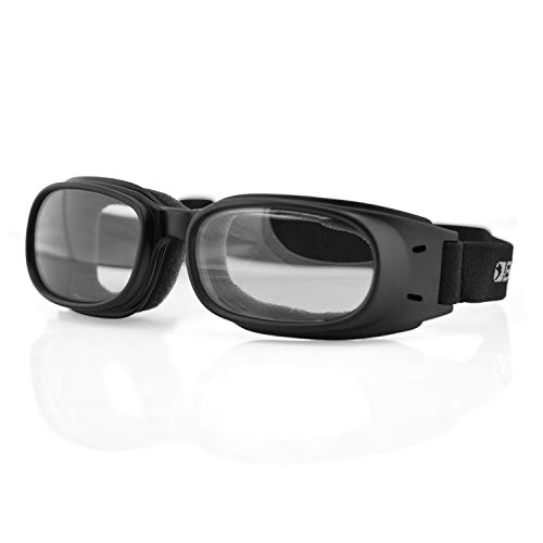 Bobster ST-ES-VCW-KIT-2 Piston Goggles, Black Frame/Clear Lens (Bobster Motorcycle Sunglasses Womens)