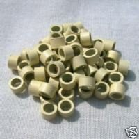 100 Aluminum Alloy Blonde Micro Beads Rings Screw Lined for Stick I Tip & Feather Hair Extensions Apply