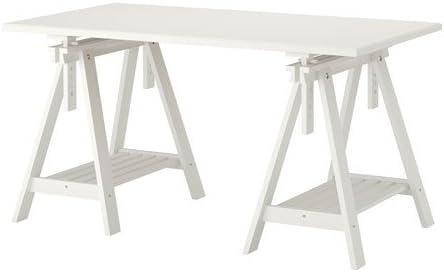 IKEA KLIMPEN / FINNVARD - Mesa, blanco - 150x75 cm: Amazon.es: Hogar