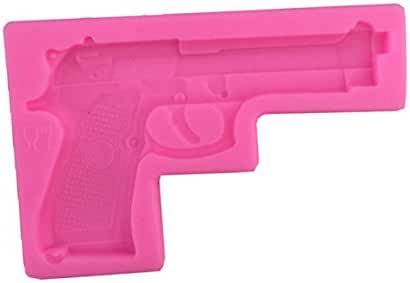 Efivs Arts Gun Pistol 3D Soft Silicone Cake Decorating Fondant Sugar Craft Molds Candy Chocolate Mold