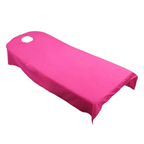 MagiDeal Rose Red + Gray Beauty Massage SPA Treatment Polyester Bed Cover 80190cm by Unknown (Image #7)