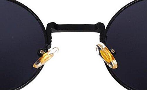 Gold Travel de Sunglasses Frame Steampunk C8 americana de Gafas pink sol europea personalidad y la Round frame Street MAIDIS Shoot qFwIBx7aa