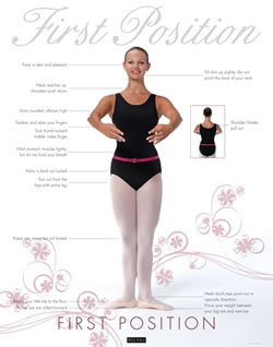Releve Position It Perfect 5 Pc  Set Ballet Dance Posters