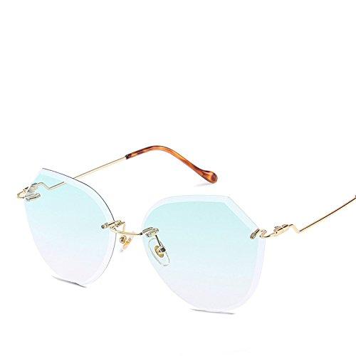 De Playa Sin Marco Gradiente Gafas Sol Visor Poligonal Dama RinV Viaje Oceánica De NO4 Película Sol Gafas No4 xO4gPH