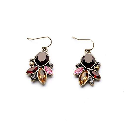 (IUTING Vintage Chandelier Drop Earring Flower Earring Bouquet Rouge Drop Earrings)