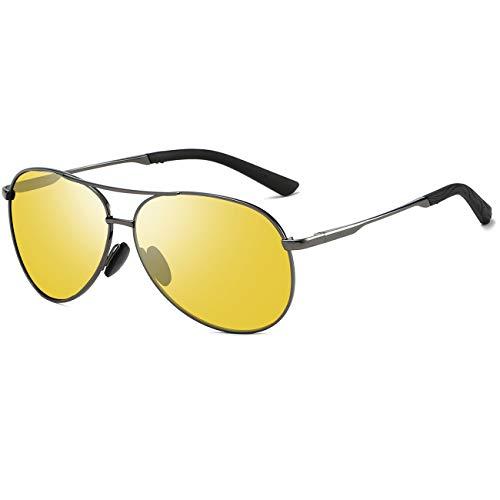 Night Driving Glasses Mens Glasses - FEIDU Night Vision Glasses for Driving FD9002