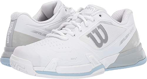 Wilson Womens Rush Pro 2.5 Tennis Shoes, White/Pearl Blue/Cashmere Blue (Size 8)