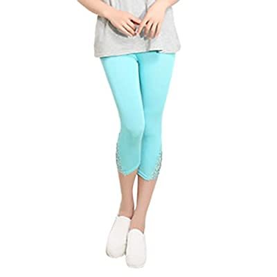 Pervobs Women Pants, Big Promotion! Women Lace High Waist Elastic Skinny Pants Yoga Sport Pants Leggings Shorts Trousers from Pervobs