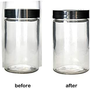 Clear Plastic NON-Perforated Shrink Bands for Jar//Pot Caps 2 SIZE CHOICES *127 x 105 Fits 1 PCS SAMPLE 71-77 mm Diameter