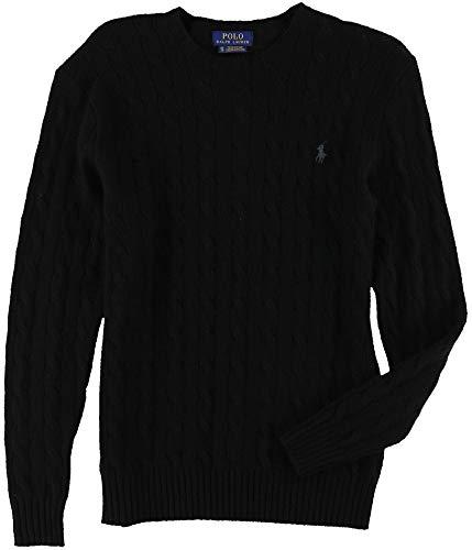 Ralph Lauren Mens Soft Knit Pullover Sweater, Black, Small ()