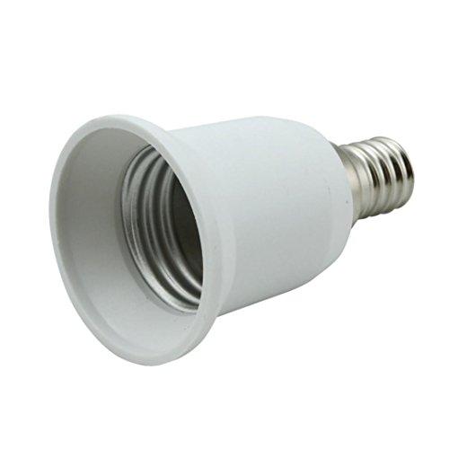 tuscom tuscom e14 to e27 base socket light bulb lamp holder adapter plug converter for sale. Black Bedroom Furniture Sets. Home Design Ideas