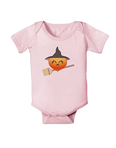 Penelope Peach Witch - Cute Fruit Baby Romper Bodysuit - Light Pink - 6 Months - Infant Halloween Costumes 06 Months