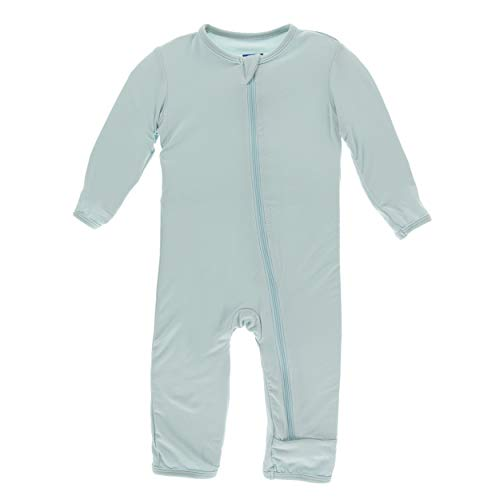 Kickee Pants Little Boys Solid Coverall with Zipper - Spring Sky, 5 Years