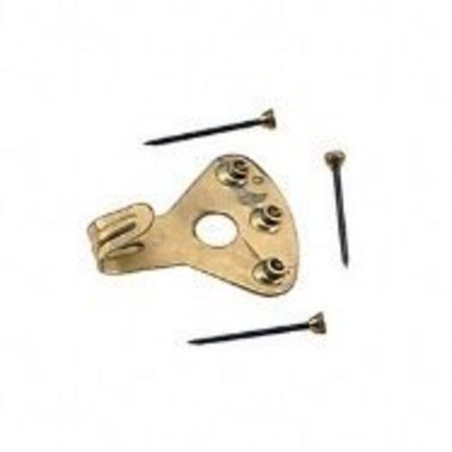 Hillman Elite Safety Hanger 75 Lb Brass Plated Card
