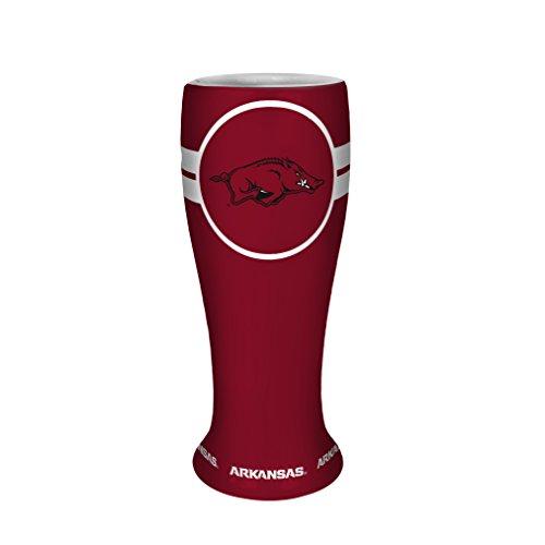 NCAA Arkansas Razorbacks Collectible Ceramic Pilsner, 2.5-ounce, Red
