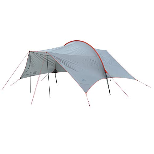 Kelty Big Shady 3-Season Sun Shelter - Protection from high Angle Sun and rain, Large 6 Chair Footprint, Backpacking, Camping, Picnic and Travel shelter - Duffel Carry Bag Included