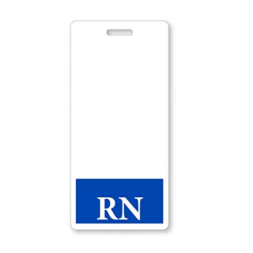 RN - Registered Nurse Vertical Hospital ID Badge Buddy with Blue Background by Specialist ID (1 Sold (Best Specialist Id Cnas)