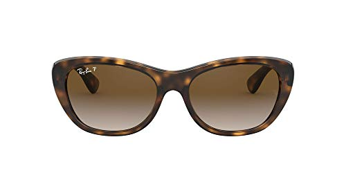Ray-Ban Women's RB4227 Cat Eye Sunglasses, Light Tortoise/Polarized Brown Gradient, 55 mm (Ray Bans Cheap)