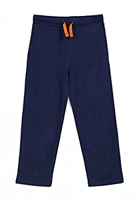 SeFu Big Boys Casual Active Pant In 100% Combed Cotton Knit Jersey With Elastic Waist, Size 10-16