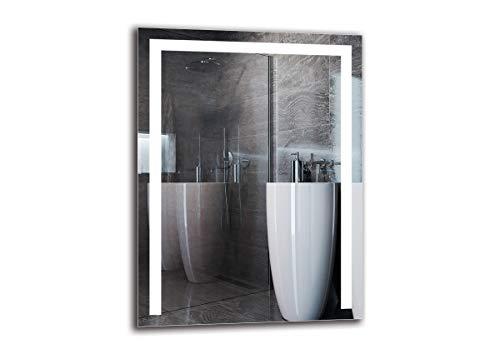 Espejo LED Premium - Dimensiones del Espejo 60x80 cm - Espejo de bano con iluminacion LED - Espejo de Pared - Espejo de luz - Espejo con iluminacion - ARTTOR M1ZP-36-60x80 - Blanco frio 6500K
