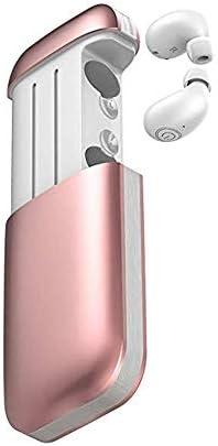 Cetengkeji ワイヤレスBluetooth 5.0ステレオサウンド品質ノイズキャンセリングヘッドフォンスポーツイヤホン付きポータブル充電ケース (Color : Pink)